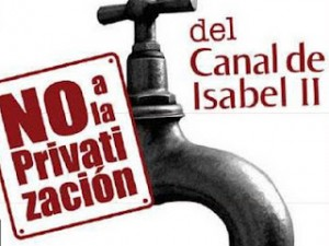 Madrid anti-privatisation campaign: popular referendum on water privatization