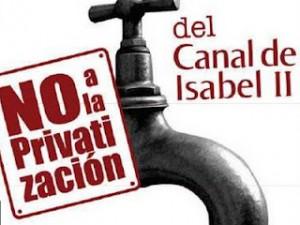 Η καμπάνια ενάντια στις ιδιωτικοποιήσεις στη Μαδρίτη : Λαικό δημοψήφισμα για την ιδιωτικοποίηση του νερού