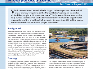 Veolia Water North America: A Corporate Profile