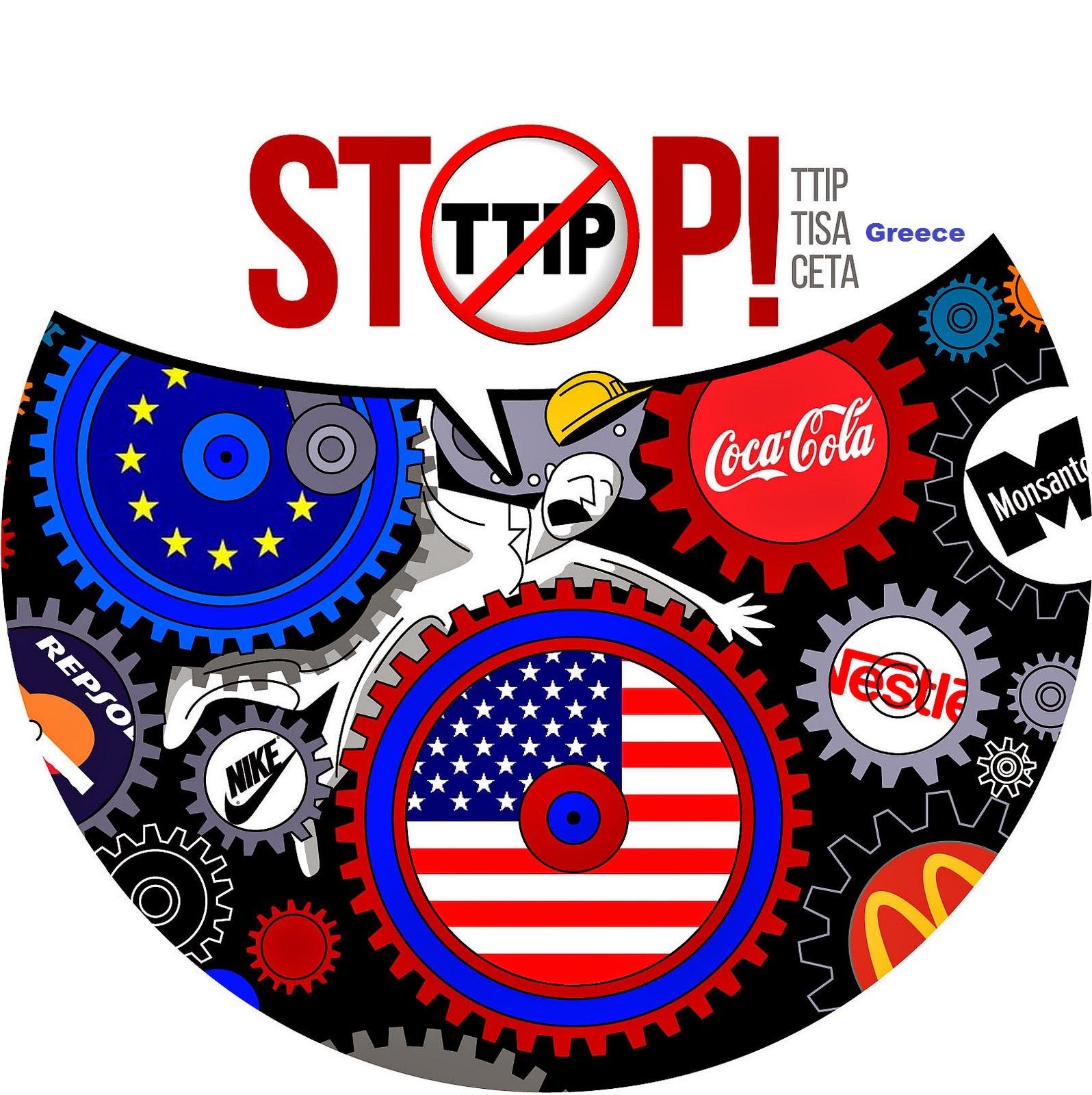 STOP TTIP CETA TISA Παγκόσμια ημέρα δράσης 18/4/2015