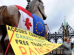 The Free Trade agreement between the EU and Canada threatens public water management