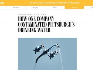 Άρθρο του Wired: «Πώς μια εταιρία μόλυνε το πόσιμο νερό στο Πίτσμπουργκ»